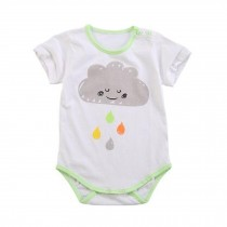 Lovely Short Sleeve  Infant Coverall Bodysuit Baby Clothes Pure Cotton,No.9
