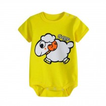 Cute Baby Bodysuit Short Sleeve Infant Coverall Baby Clothes,No.4