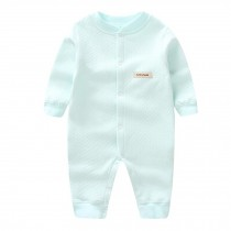 Breathable Newborn Baby Autumn Jumpsuits Bodysuit Infant Coverall, Mint green