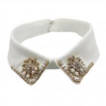 Fashionable Shirt Collar Fake Collar Detachable Stand Collar False Collar Neckband-White #04