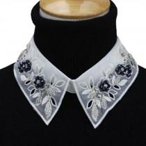 Fashionable Shirt Collar Fake Collar Detachable Stand Collar False Collar Neckband-White #09