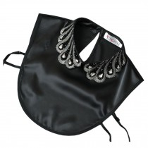 Fashionable Fake Collar Shirt Ornament Collar Detachable False Collar Stand Collar Black