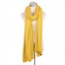 Lady's Stylish Pure Colour Scarves Luxurious Pashmina Scarf Knitted scarf Yellow