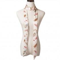 2 PCS Elegant Silk Scarf Neckerchief Silks And Satins Scarves Narrow-band Waistband N