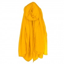 Womens Fashion Solid Scarves Comfortable Scarf Shawl Wrap Neck Wear, Yellow