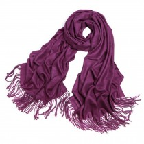 Ladies Elegant Scarf Comfortable Scarves Shawl Wrap Solid Color, Purple