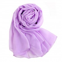 Oversized Premium Silk Scarf Shawl Beach Wrap Scarves Neckerchief, violet