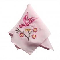 Elegant 2Pcs Ladies Handkerchief Embroidered Hanky, Butterfly
