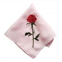 Elegant 2Pcs Rose Ladies Handkerchief, Pink