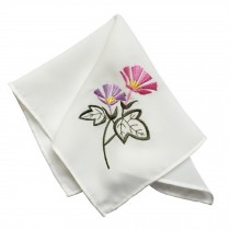 2Pcs Ladies Handkerchief Embroidered Hanky, Orchid