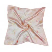 Elegant Printed Silk Handkerchief For ladies, Floral Pattern