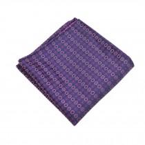 Gentlemen's Elegant Pocket Square Handkerchiefs With Beautiful Pattern, Purple