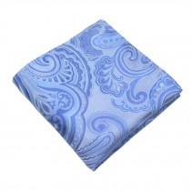 Gentlemen's Elegant Pocket Square Handkerchiefs With Pattern, Blue