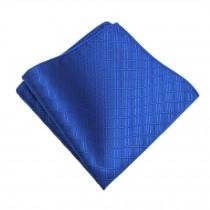 Gentlemen's Elegant Pocket Square Handkerchiefs With Pattern, Deep Blue