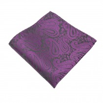 Gentlemen's Elegant Pocket Square Handkerchiefs With Pattern, Purple