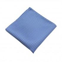 Gentlemen's Elegant Pocket Square Handkerchiefs With Dots Pattern, Blue