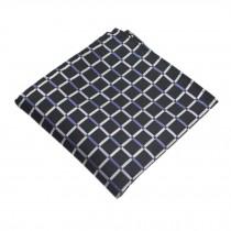 Gentlemen's Elegant Pocket Square Handkerchiefs With Pattern, Black