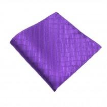 Elegant Gentlemen's Pocket Square Handkerchiefs, Purple
