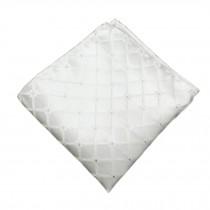 Elegant Gentlemen's Pocket Square Handkerchiefs, White