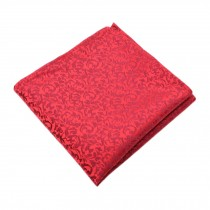 Elegant Gentlemen's Pocket Square Handkerchiefs, Red