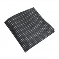Elegant Gentlemen's Pocket Square Handkerchiefs, Black