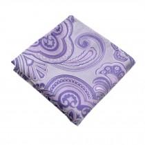 Elegant Gentlemen's Pocket Square Handkerchiefs With Purple Pattern
