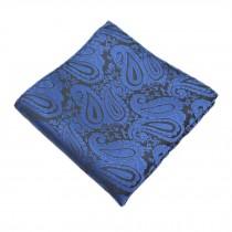 Elegant Gentlemen's Pocket Square Handkerchiefs With Blue Pattern