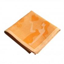 Cotton Handkerchief with Decorative Pattern,A Series Of Pure Dancers,Orange