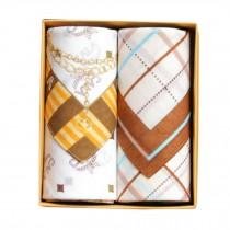 2Pcs Mens Pocket Square Hanky Pure Cotton Soft Handkerchiefs,White
