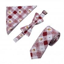 Mens Fashionable Wedding Ties Set Necktie/Bow Tie/Pocket, No.2