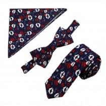 Mens Fashionable Wedding Ties Set Necktie/Bow Tie/Pocket, Lip Pattern