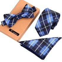 Formal/Informal Ties Set Mens Fashionable Necktie/Bow Tie/Pocket Square