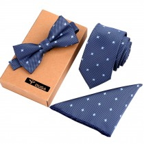 Mens Fashionable Ties Set Formal/Informal Necktie/Bow Tie/Pocket Square