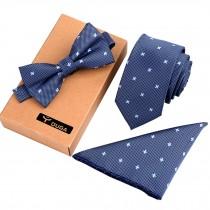 Mens Fashionable Ties Set Formal/Informal Necktie/Bow Tie/Pocket Square