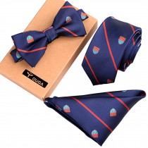 Fashionable Formal/Informal Neck Ties Ties Set, Necktie/Bow Tie/Pocket Square