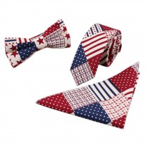 3 PCS Fashionable Casual Formal/Informal Necktie/Bow Tie/Pocket Square B