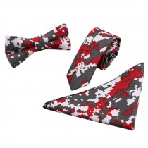 3 PCS Fashionable Casual Formal/Informal Necktie/Bow Tie/Pocket Square D