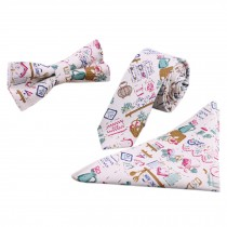 3 PCS Fashionable Casual Formal/Informal Necktie/Bow Tie/Pocket Square G