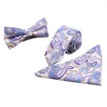 3 PCS Fashionable Casual Formal/Informal Necktie/Bow Tie/Pocket Square J