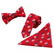 3 PCS Fashionable Casual Formal/Informal Necktie/Bow Tie/Pocket Square T