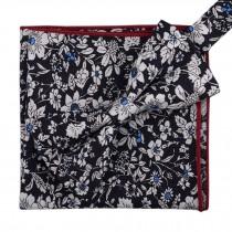 Korean Formal/Informal Bow Tie Pocket Square Casual Cotton Handkerchief #02