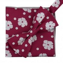 Korean Formal/Informal Bow Tie Pocket Square Casual Cotton Handkerchief #06