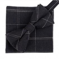 Fashion Casual Bow Tie Pocket Square Business Necktie Pocket Cloth NO.01