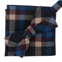 Fashion Casual Bow Tie Pocket Square Business Necktie Pocket Cloth NO.18