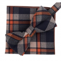 Fashion Casual Bow Tie Pocket Square Business Necktie Pocket Cloth NO.19