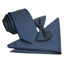 High-end Mens Neckties Bow Tie Pocket Square Formal Wedding Necktie A