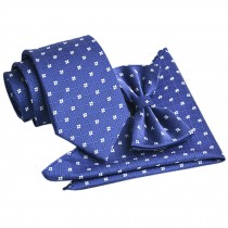 High-end Mens Neckties Bow Tie Pocket Square Formal Wedding Necktie B