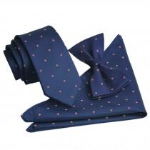 High-end Mens Neckties Bow Tie Pocket Square Formal Wedding Necktie F