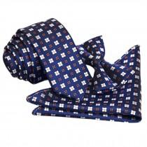 High-end Mens Neckties Bow Tie Pocket Square Formal Wedding Necktie J