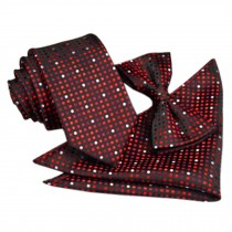 High-end Mens Neckties Bow Tie Pocket Square Formal Wedding Necktie M
